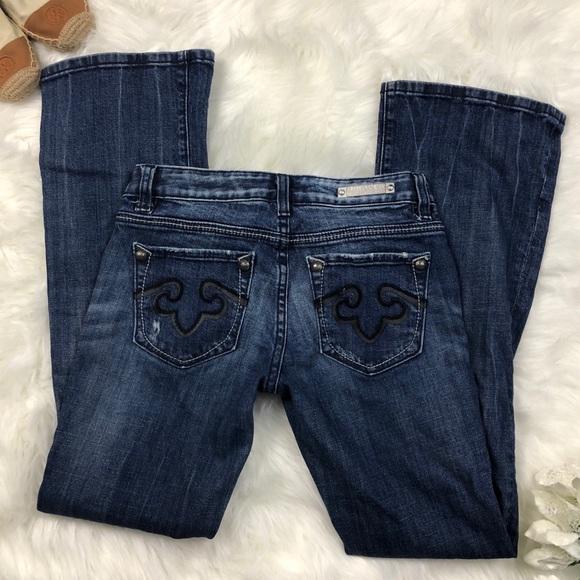 Express Denim - ReRock For Express Size 0 Short Bootcut Jeans